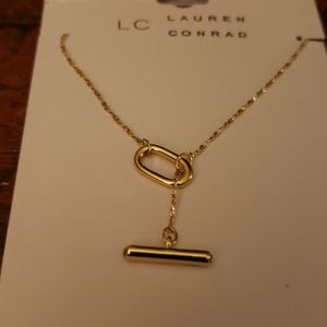 LC Lauren Conrad Gold tone  necklace New
